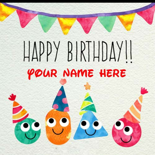 Get Your Name On Birthday Greetings Card For Messages