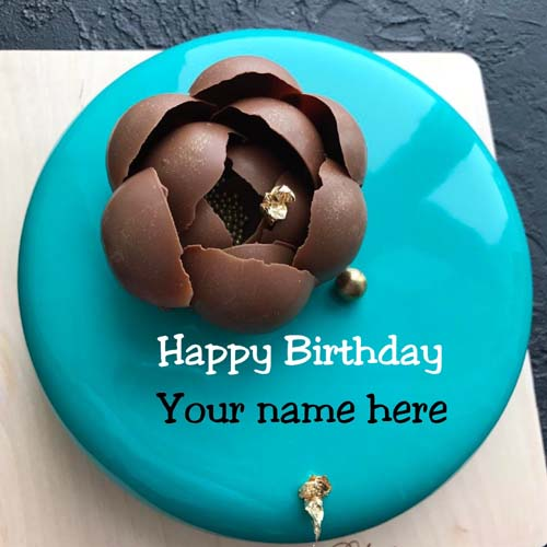 Get Your Name On Happy Birthday Cake For Wife