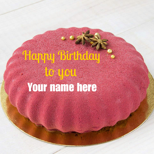 Write Brother Name On Velvet Birthday Cake