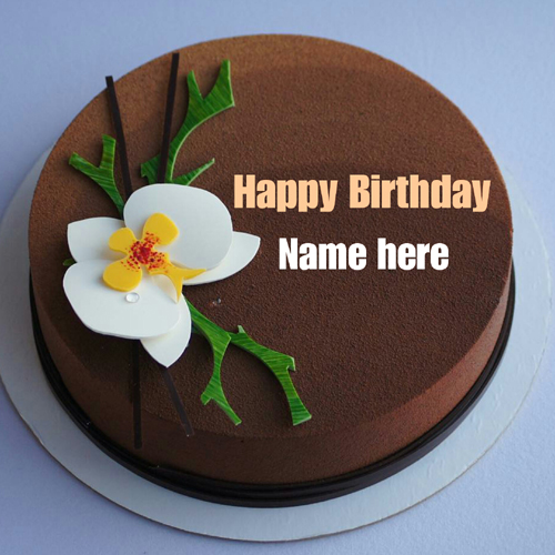 Chocolate Velvet Art Cake With Name On It