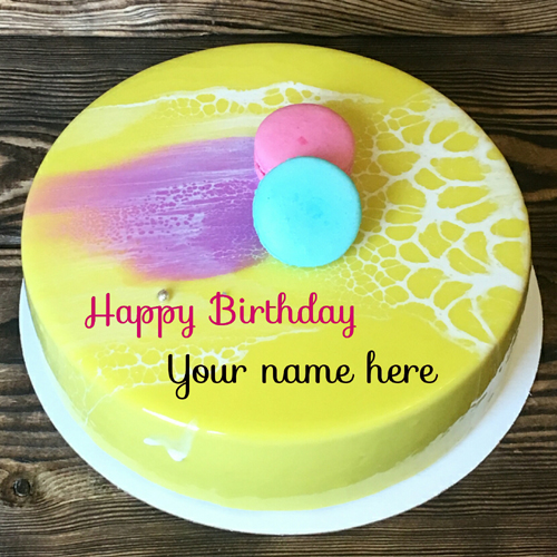 Pineapple Birthday Cake With Name On It For Father