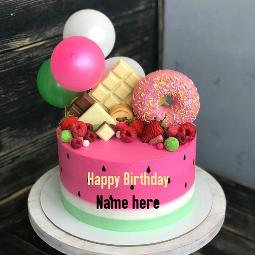 Write Name On Happy Birthday Wishes Cake For Sister