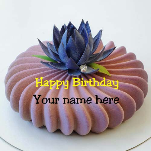 Lotus Flower Designer Birthday Name Cake For Sister