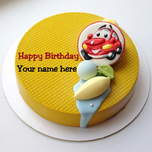 Write Name On Mango Flavored Kids Birthday Cake