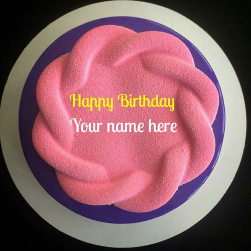 Write Name On Velvet Birthday Cake For Mother