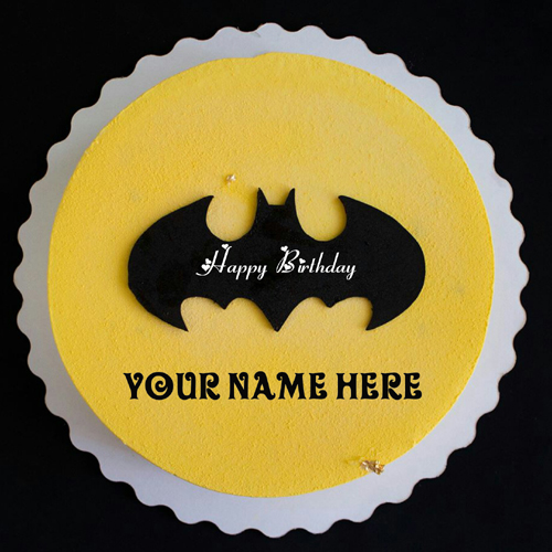 Batman Happy Birthday Cake With Name For Kid