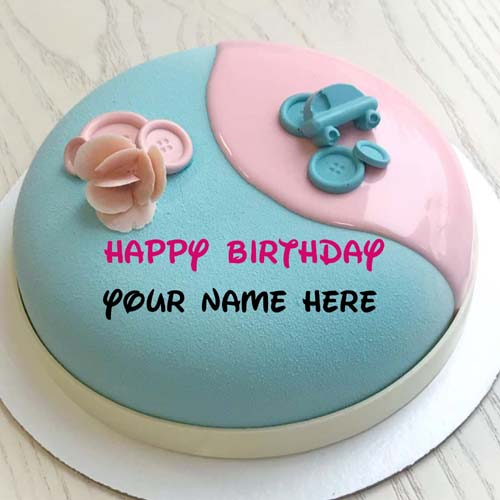 Generate Name On Happy Birthday Cake For Sister