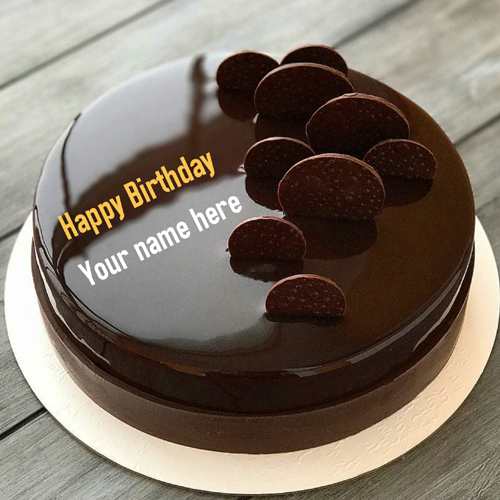 Print Name On Chocolate Cake For Birthday Wishes