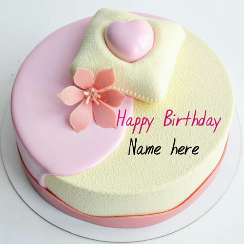 Beautiful Flower Decorated Birthday Name Cake For Mom