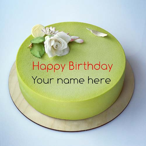 Generate Brother Name On Green Apple Birthday Cake