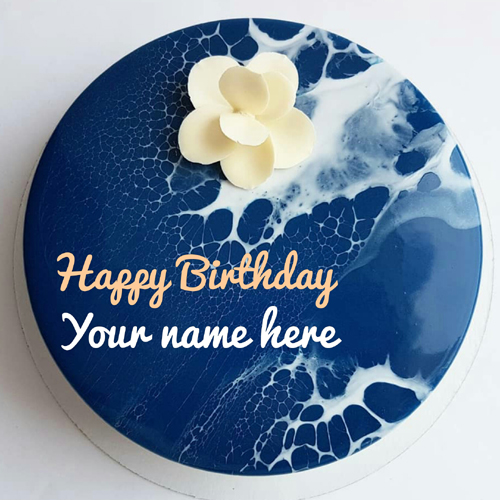 Print Name On Art Birthday Cake for Brother