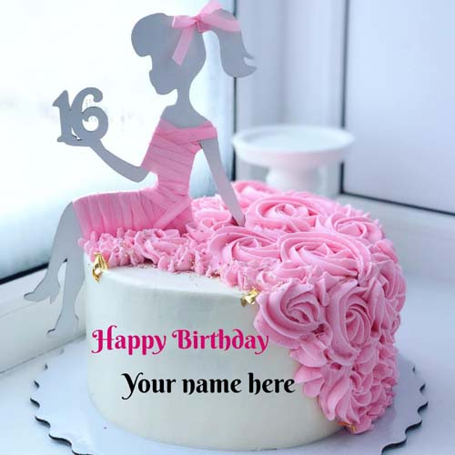 Sweet Sixteen Butter Cream Happy Birthday Name Cake