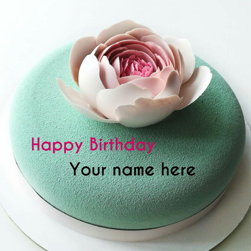 Write Name On Birthday Cake For Dear Friend With Flower