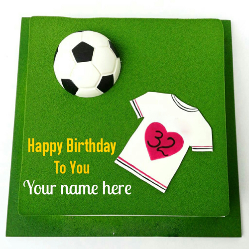 Football Special Birthday Cake With Name For Player