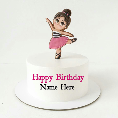 Cute Doll Birthday Cake For Sister With Name On It