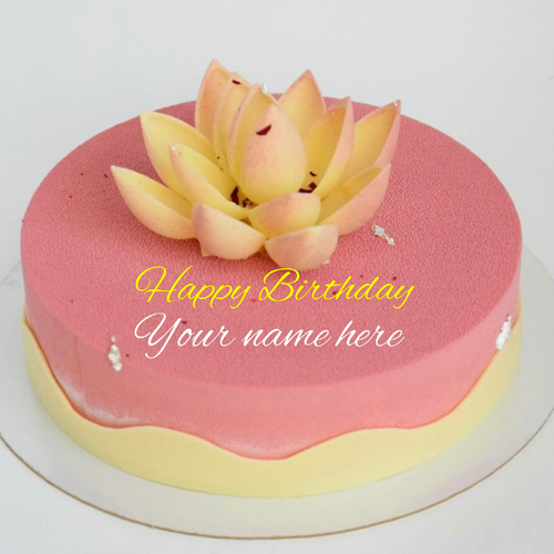 Strawberry Birthday Cake With Lotus for Sister
