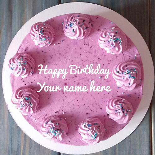 Rose Flavored Cream Birthday Cake With Friend Name