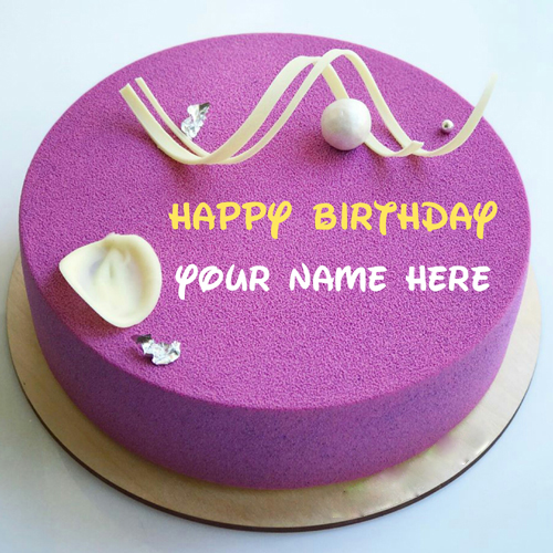 Write Mother Name On Yummy Purple Color Birthday Cake