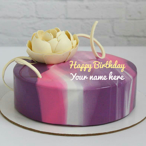 Generate Name On Colorful Birthday Cake For Friend