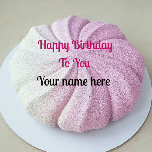 Rose Vanilla Velvet Birthday Cake With Name For Father