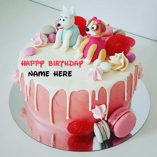 Write Name On Cartoon Birthday Cake For Kids