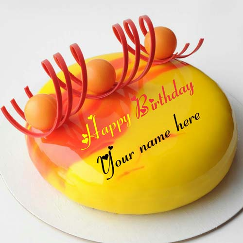 Write Name On Mango Flavor Birthday Cake For Brother