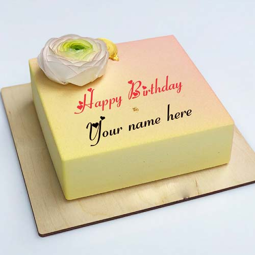 Write Name On Birthday Greetings Cake For Brother