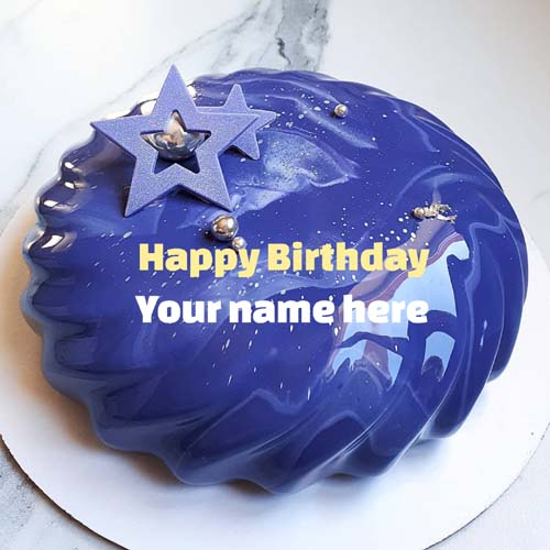 Write Name On Molten Birthday Cake For Father