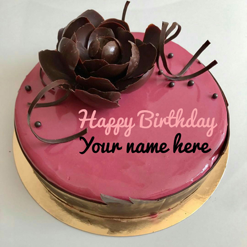 Write Mother Name On Strawberry Flavored Birthday Cake