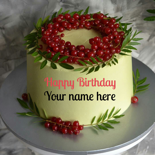 Write Name On Cherry Birthday Cake For Friend