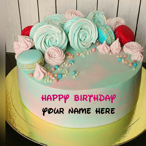 Butter Cream Birthday Cake With Name For Friend