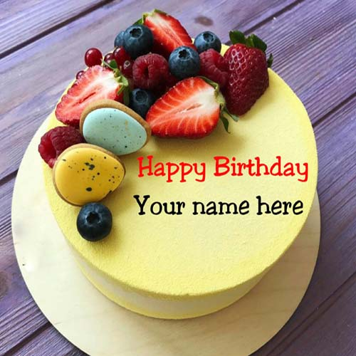 Generate Name On Birthday Cake For Dear Father
