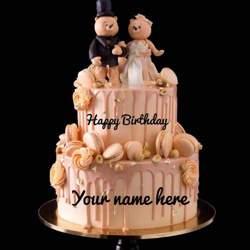Couple Special Romatic Birthday Cake With Name On It