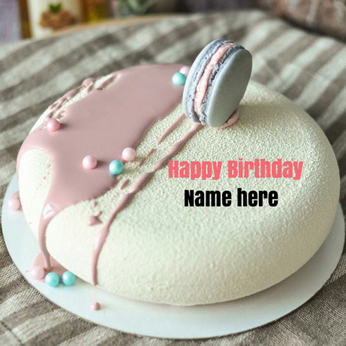 Write Name On Velvet Birthday Cake For Brother