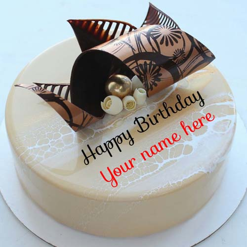 Write Name On Designer Birthday Cake For Mother
