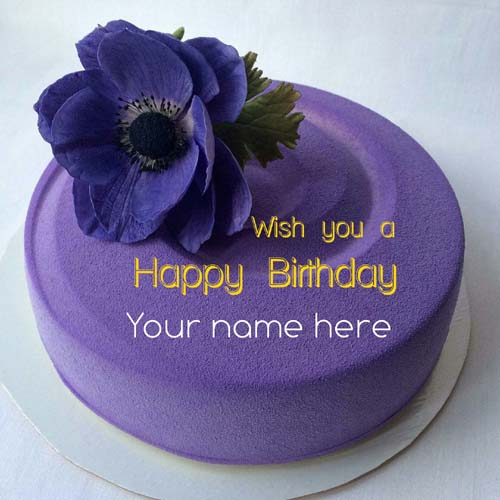 Generate Name On Blackcurrant Birthday Cake For Friend