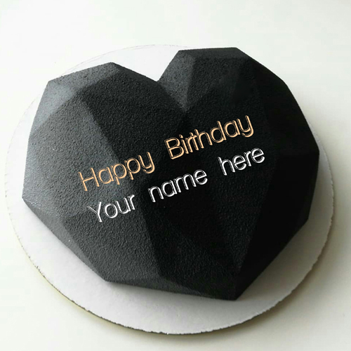 Write Name On Heart Shaped Birthday Cake For Love