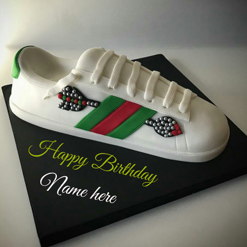 Sport Shoes Birthday Cake For Brother With Name