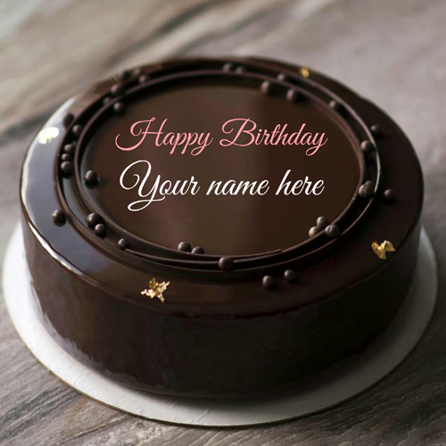 Belgium Chocolate Birthday Cake With Name On It