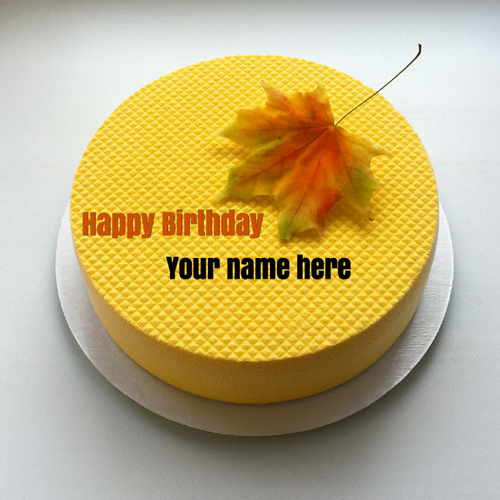 Beautiful Pineapple Birthday Cake With Name For Mother
