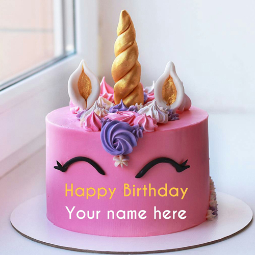 Unicorn Birthday Cake With Strawberry Flavor For Kid
