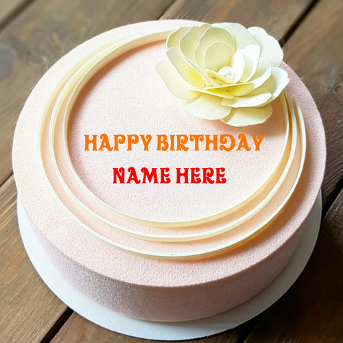 Vanilla Caramel Birthday Cake With Name On It For Daddy