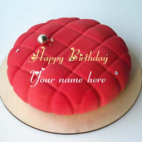 Generate Name On Designer Birthday Cake For Mother