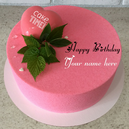 Strawberry Birthday Cake With Heart On It For Love