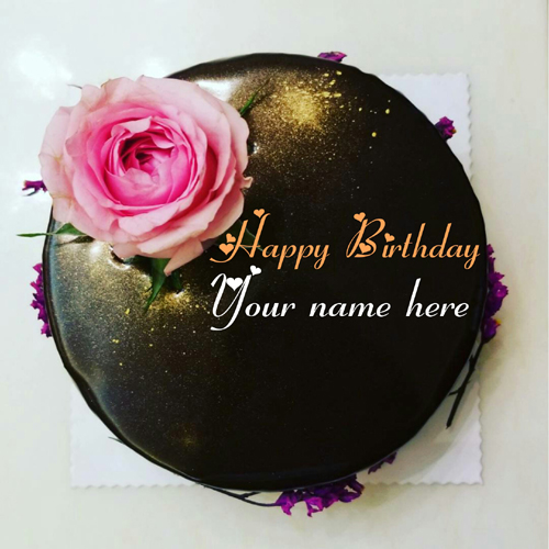Write Name On Yummy Chocolate Birthday Cake