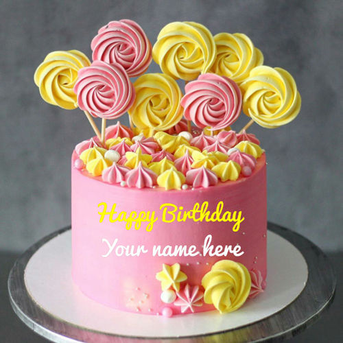 Strawberry Pineapple Cream Birthday Cake With Name
