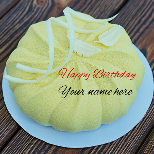 Pineapple Flavor Birthday Wishes Cake With Name On It