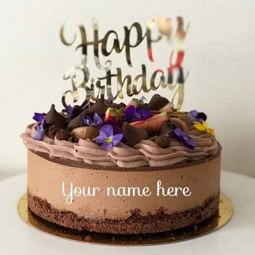 Chocolate Butter Cream Birthday Cake With Name On It