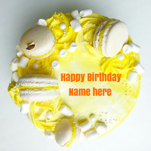 Butter Cream Birthday Cake With Name For Dear Sister