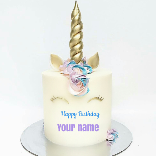 Birthday Wishes to Dear Sister Unicorn Cake With Name